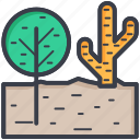 cactus, desert plant, nature concept, shrub tree, tree icon