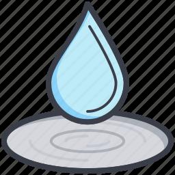 dewdrop, drop, droplet, raindrop, water drop icon