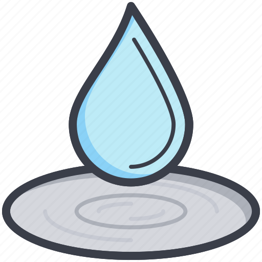 dewdrop, drop, droplet, raindrop, water drop icon