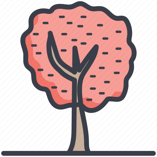 greenery, nature, park, shrub tree, tree icon
