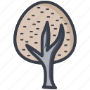 greenery, nature, oak tree, park, shrub tree icon