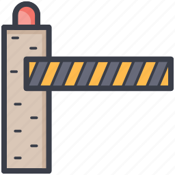 barrier, checkpoint, checkpost, control point, customs barrier icon