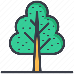 greenery, nature, park, shrub tree, tree icon