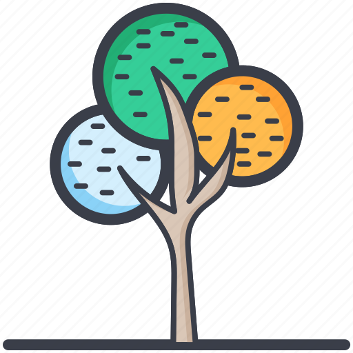 dotted leafs, generic tree, nature, nature inspiration, tree icon