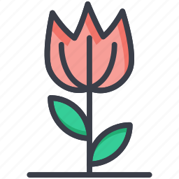 flower, nature, spring flower, tulip, tulip bud icon