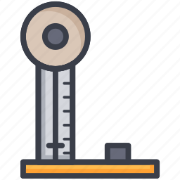 industrial equipment, industrial scale, scale, weighing, weight scale icon
