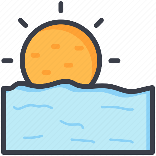 evening, morning, sun, sunrise, sunset icon