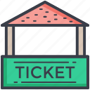 carnival, ticket booth, ticket stall, ticket stand, tickets