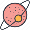 astronomy, orbit, planet, saturn, solar system icon