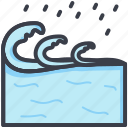 aqua, ocean, sea, water splashing, water waves icon