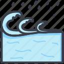 aqua, ocean, sea, water splashing, water waves
