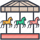 amusement ride, carousel, funfair, horse carousel, merry go round icon