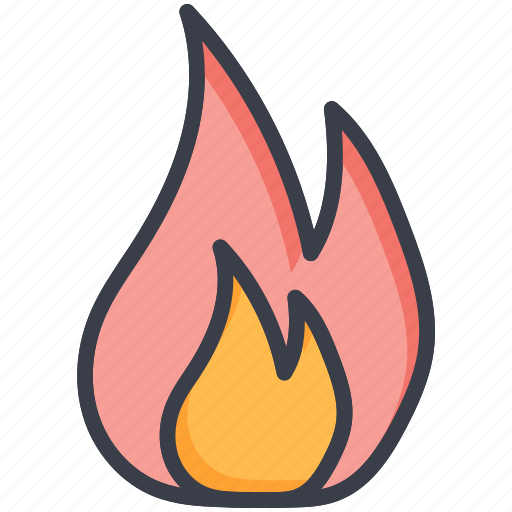 burn, fire, flame, flammable, heat icon