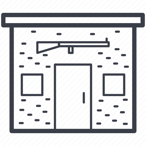 hunting rifle, self defense, shooting club, shooting gallery, shooting range icon