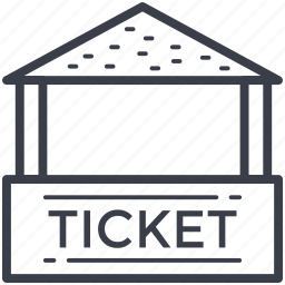 carnival, ticket booth, ticket stall, ticket stand, tickets icon
