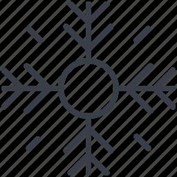 christmas, christmas decoration, snow bunting, snowflake, winter icon