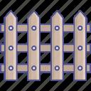 barricade, fence, palisade, railing icon