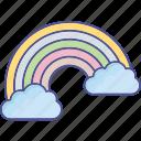 rainbow curve, dream, rainbow, fantasy icon
