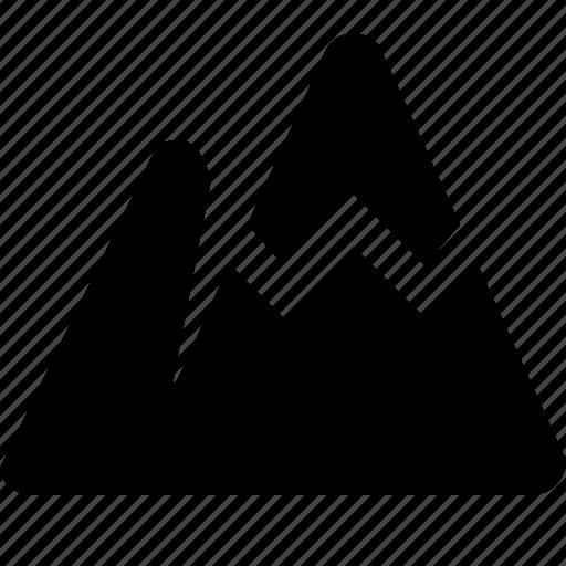 alpinism, hiking, hillock, hills, mountain, nature icon