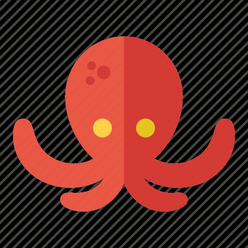 fish, marine, nautical, octopus, sea icon