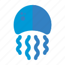 fish, jellyfish, marine, nautical, sea icon