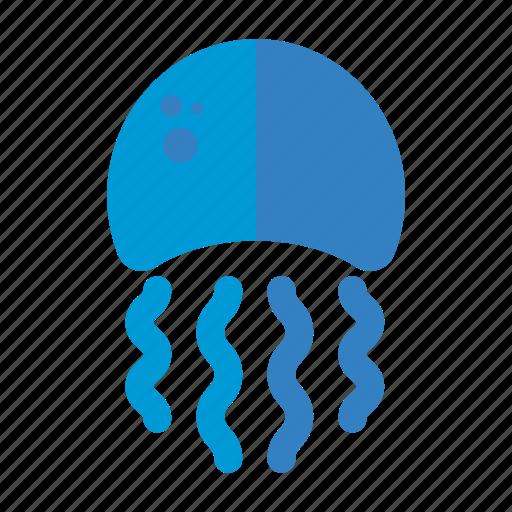 fish, jellyfish, marine, nautical, sea icon