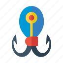 fish, hook, marine, nautical, sea icon