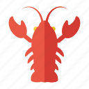 fish, marine, nautical, sea, shrimp icon