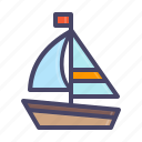 beach, boat, nautical, sail, sailing, sea, yacht icon