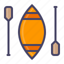 boat, canoe, paddle, row, sea, water icon