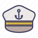captain, hat, marine, nautical, sail, ship, vessel