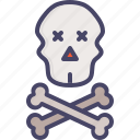crossbones, danger, death, pirate, skull, warning