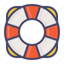 guard, help, lifebuoy, marine, nautical, save, sea icon
