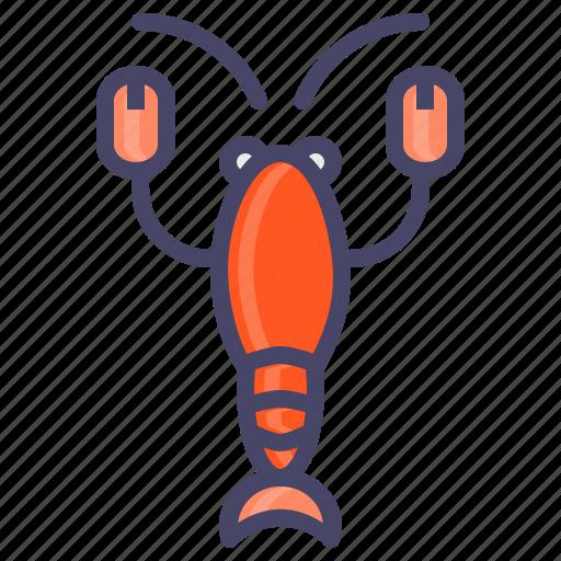 food, lobster, marine, sea, seafood, shrimp icon