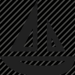 boat, sail, sea, wind icon