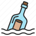 bottle, message, nautical, sailor, sea