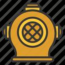 diving, diving helmet, equipment, nautical, sailor icon