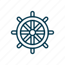 direction, nautical, sailor, sea, ship, steering, wheel icon
