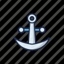 anchor, metal, nautical, sail, sailor, sea, ship icon