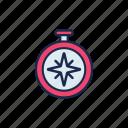 compass, direction, nautical, navigation, sail, sailor, sea icon