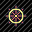 nautical, sail, sailor, sea, ship, steering, wheel icon