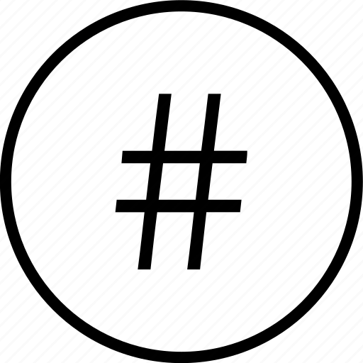 hashtag, interface, navigation, pound, sign, ui, user icon