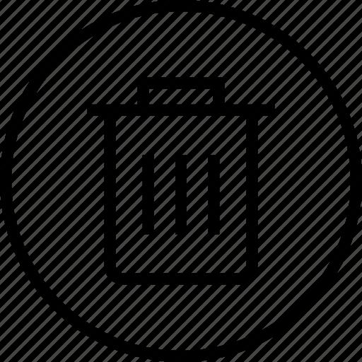 bin, can, interface, navigation, trash, ui, user icon