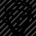 andrew, arrow, beard, long, stressed icon