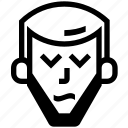 arrow, beard, gareth, long, stressed icon