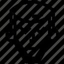 arrow, beard, gareth, long, thinking icon