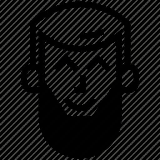 abu, arrow, happy icon