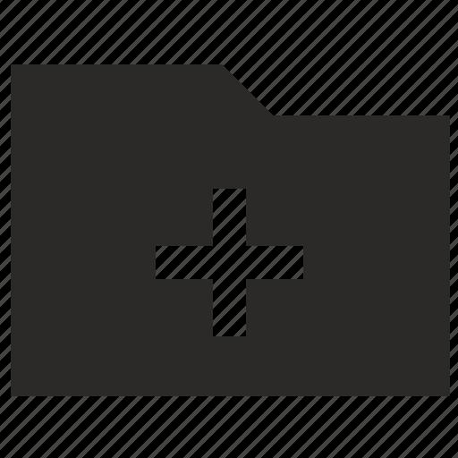 add, document, folder, more, plus icon