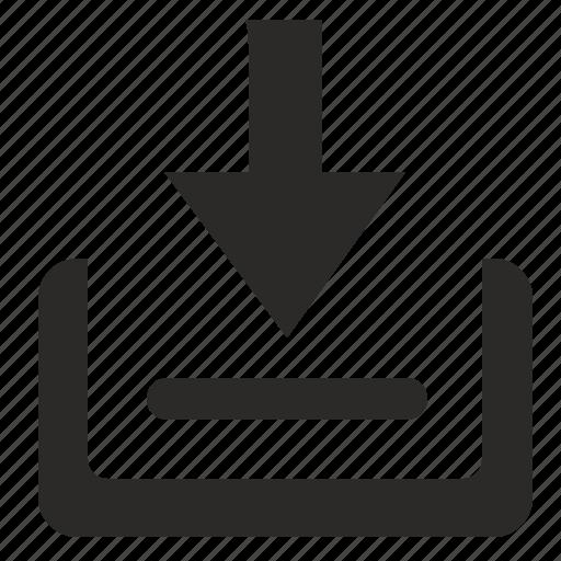 box, inbox, letter, mail, queue icon
