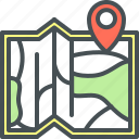map, map pointer icon